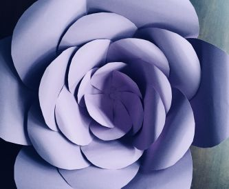 Creating a hand cut paper flower