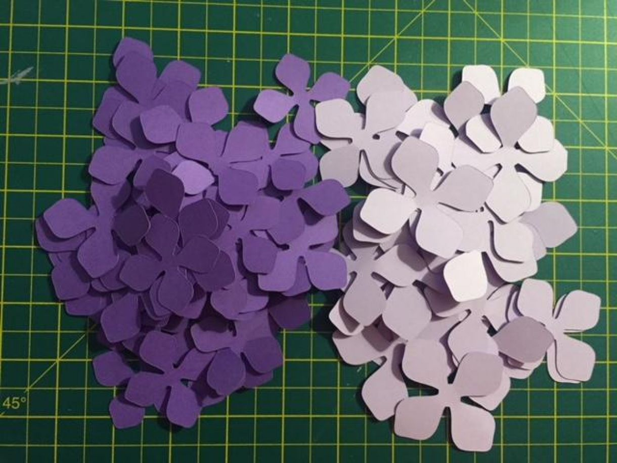 Creating A Paper Flower Hydrangea Ball
