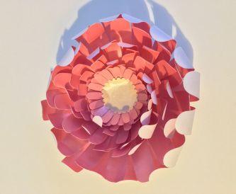Persian pink paper flowers