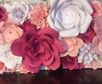 How To Create A Table Top Paper Flower Wall