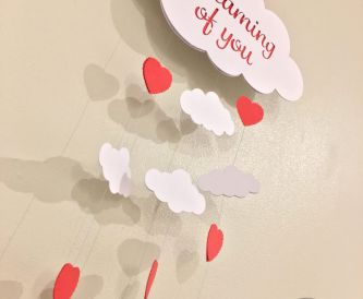 Romantic hanging cloud - Valentines day craft idea