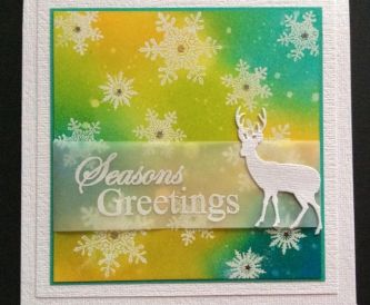 A Simple Christmas Card - Distress Inks