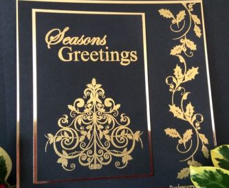 Black & Gold Elegant Card for Christmas