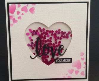 How to make a shaker card - Valentine Hearts
