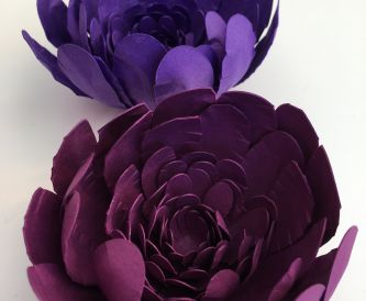 Pretty purple blooms - DIY Paper Flowers