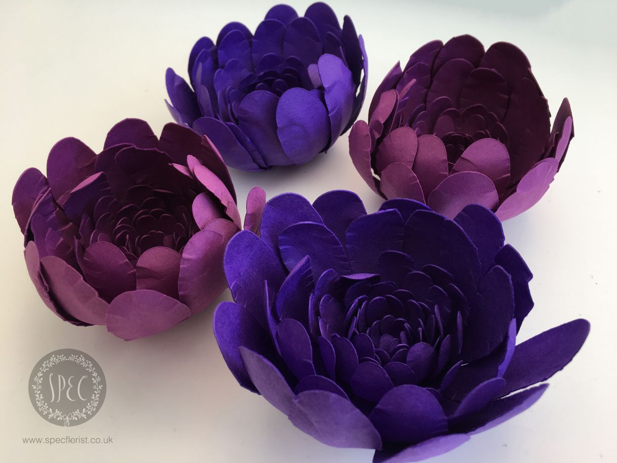 Pretty Purple Blooms Diy Paper Flowers