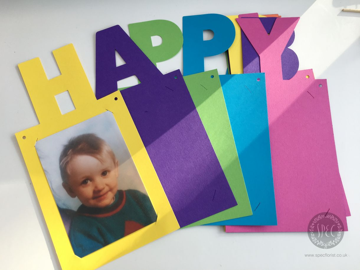 how to make birthday banners with photos