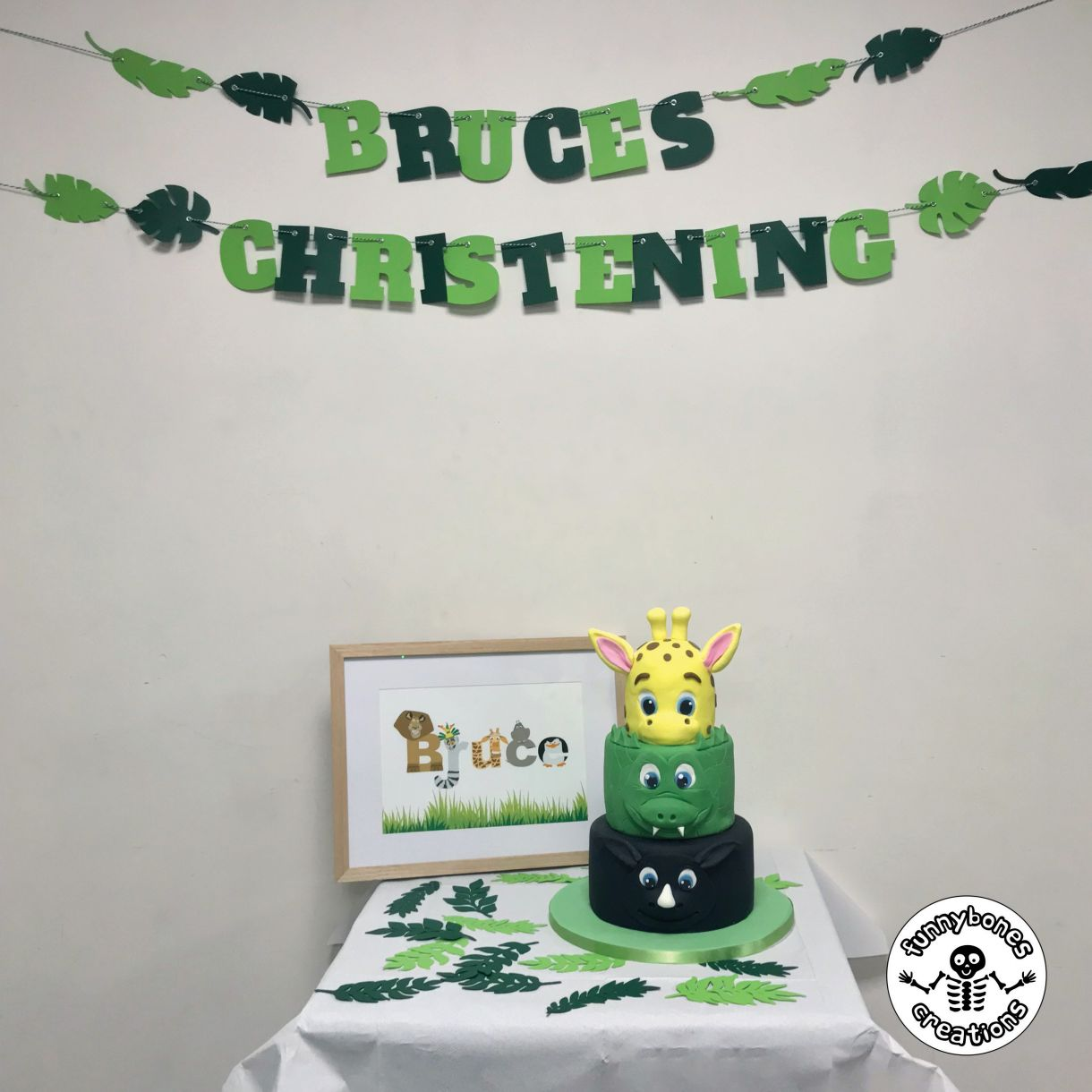 Christening bunting