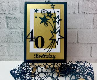 How To Make A 40th Birthday Card