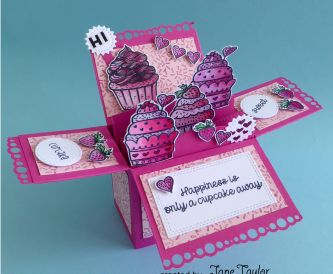 Cupcake Crazy Box Card