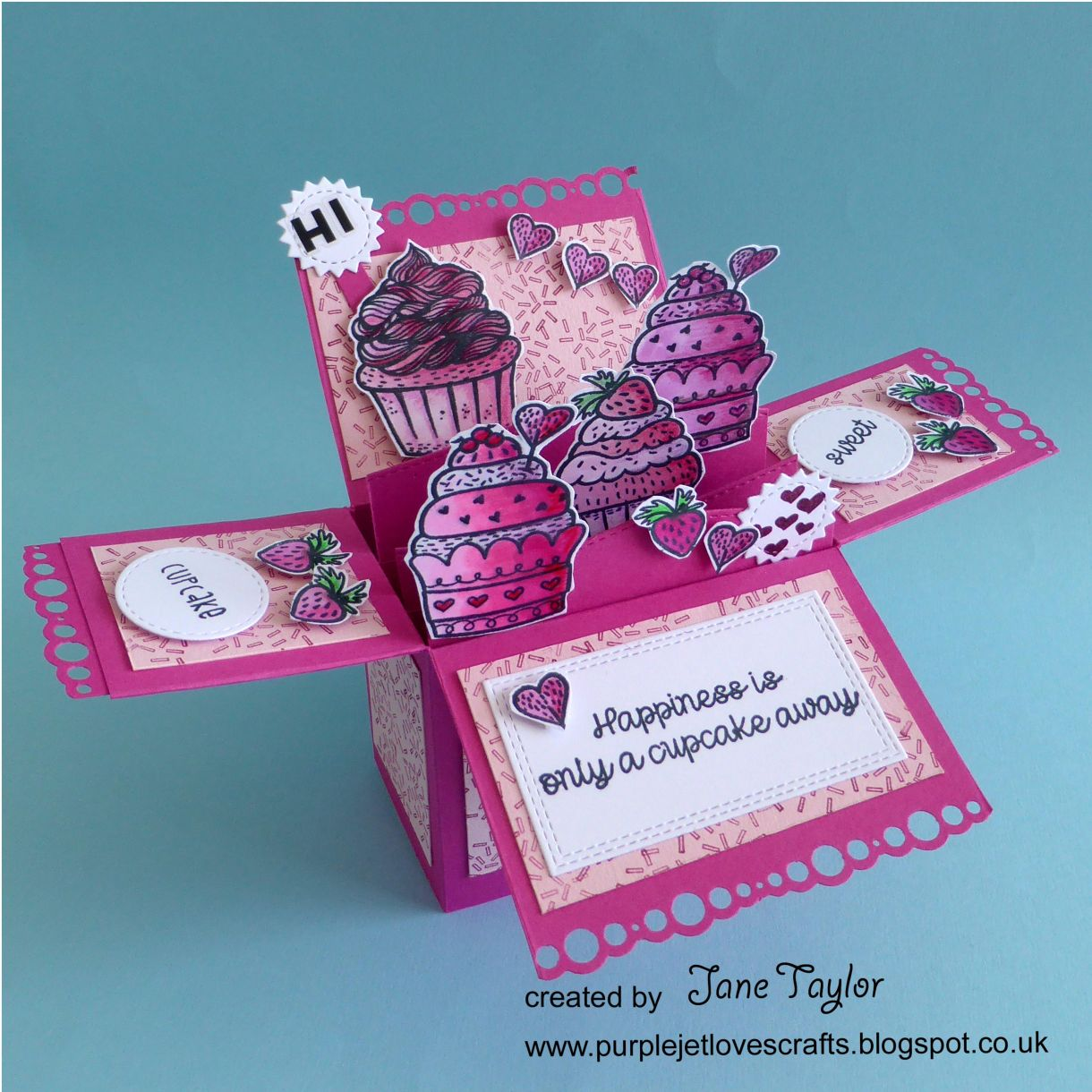Jane Cupcake Box Card 1J