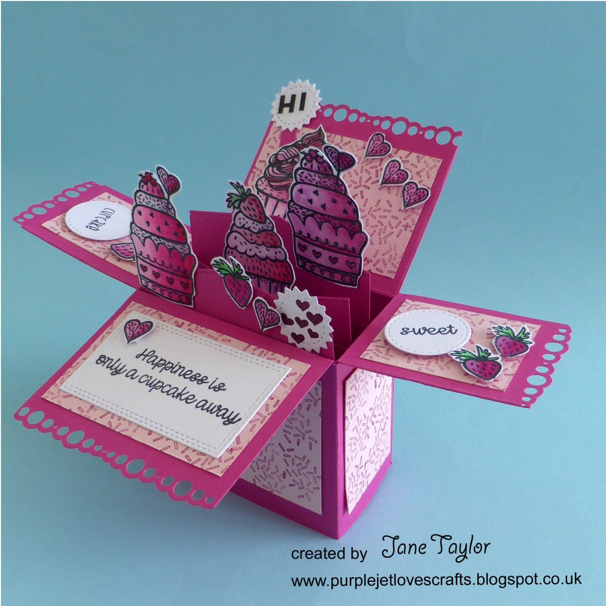 Jane Cupcake Box Card 1K