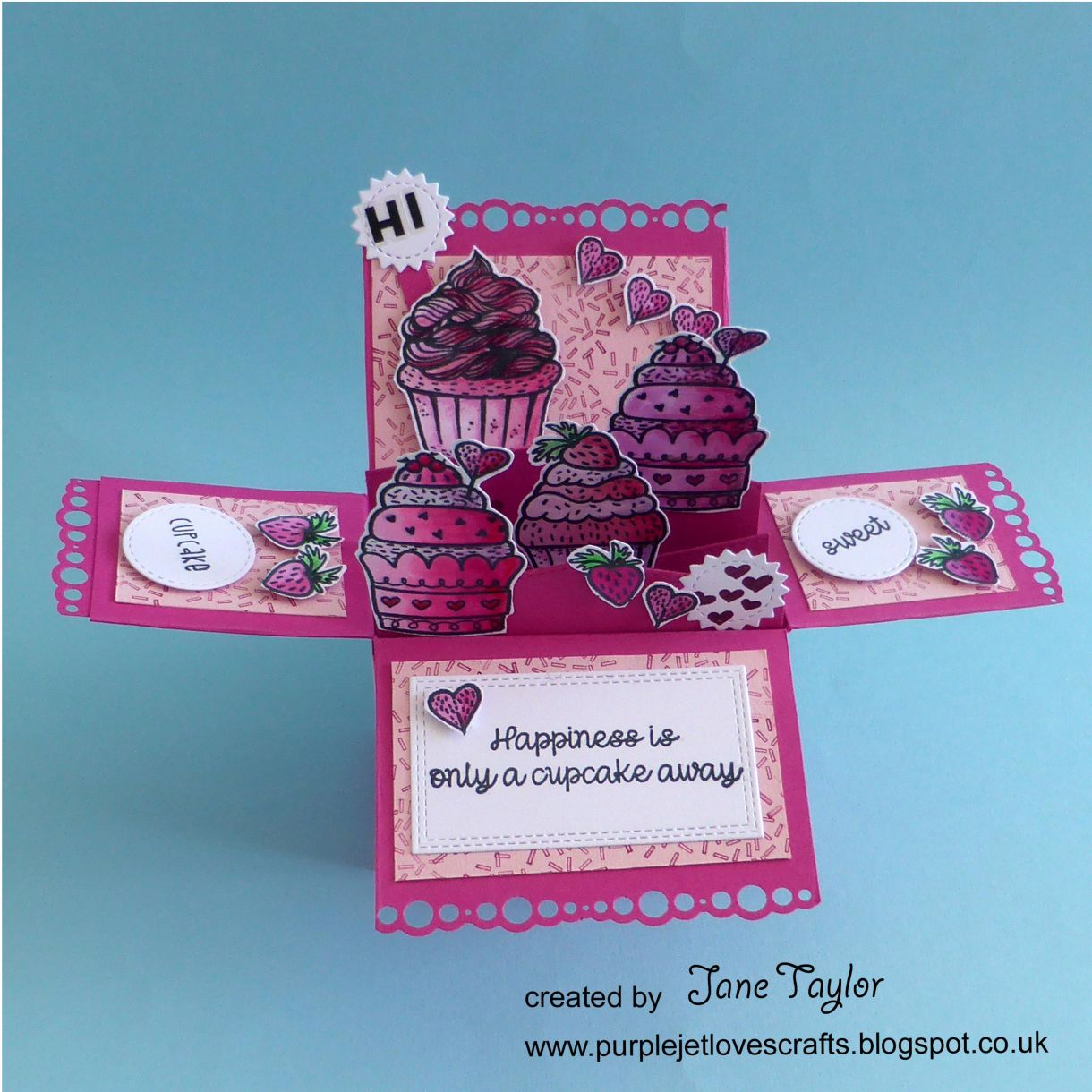 Jane Cupcake Box Card 1M