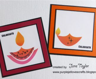 Diwali Candles Cards