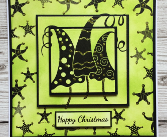 Happy Christmas using Woodware Stamps