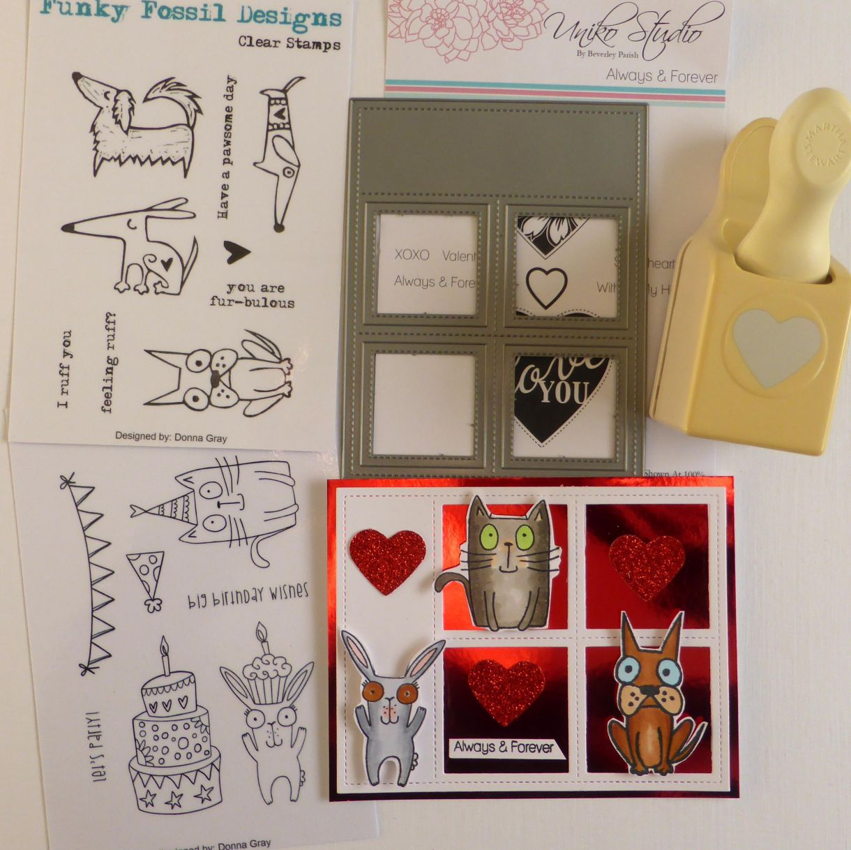 Jane T Valentine Animal Card 1A