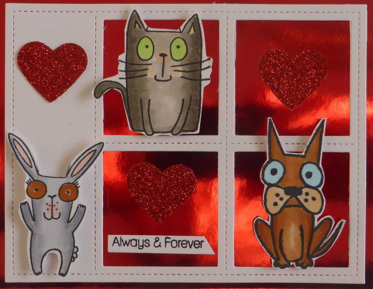 Jane T Valentine Animal Card 1B