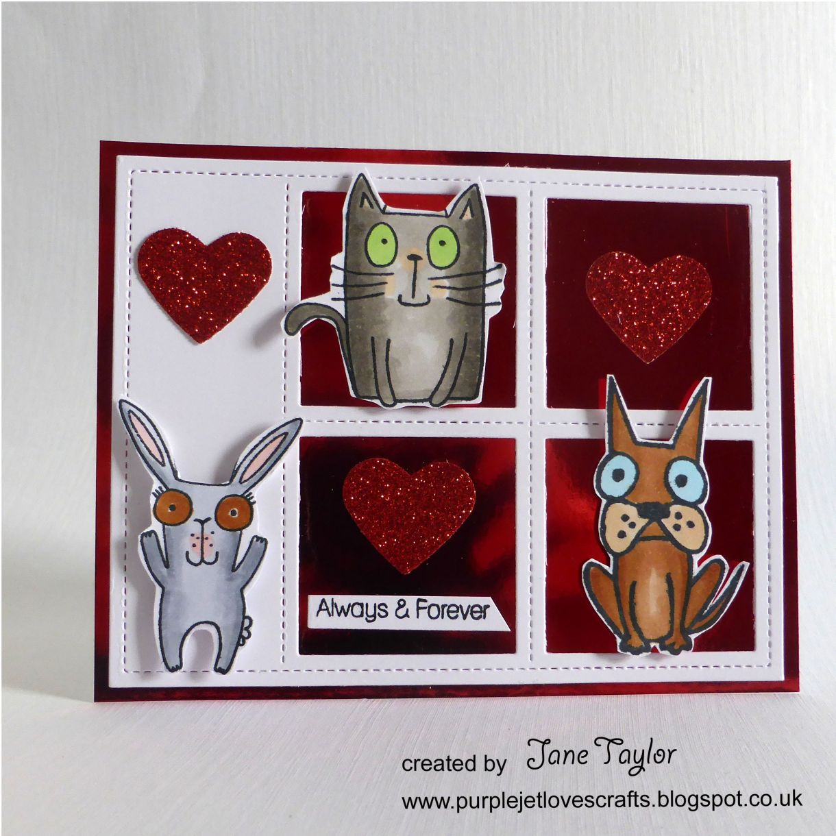 Jane T Valentine Animal Card 1C