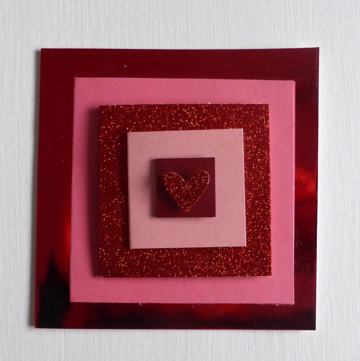 Jane T Valentine Layered Card 1C