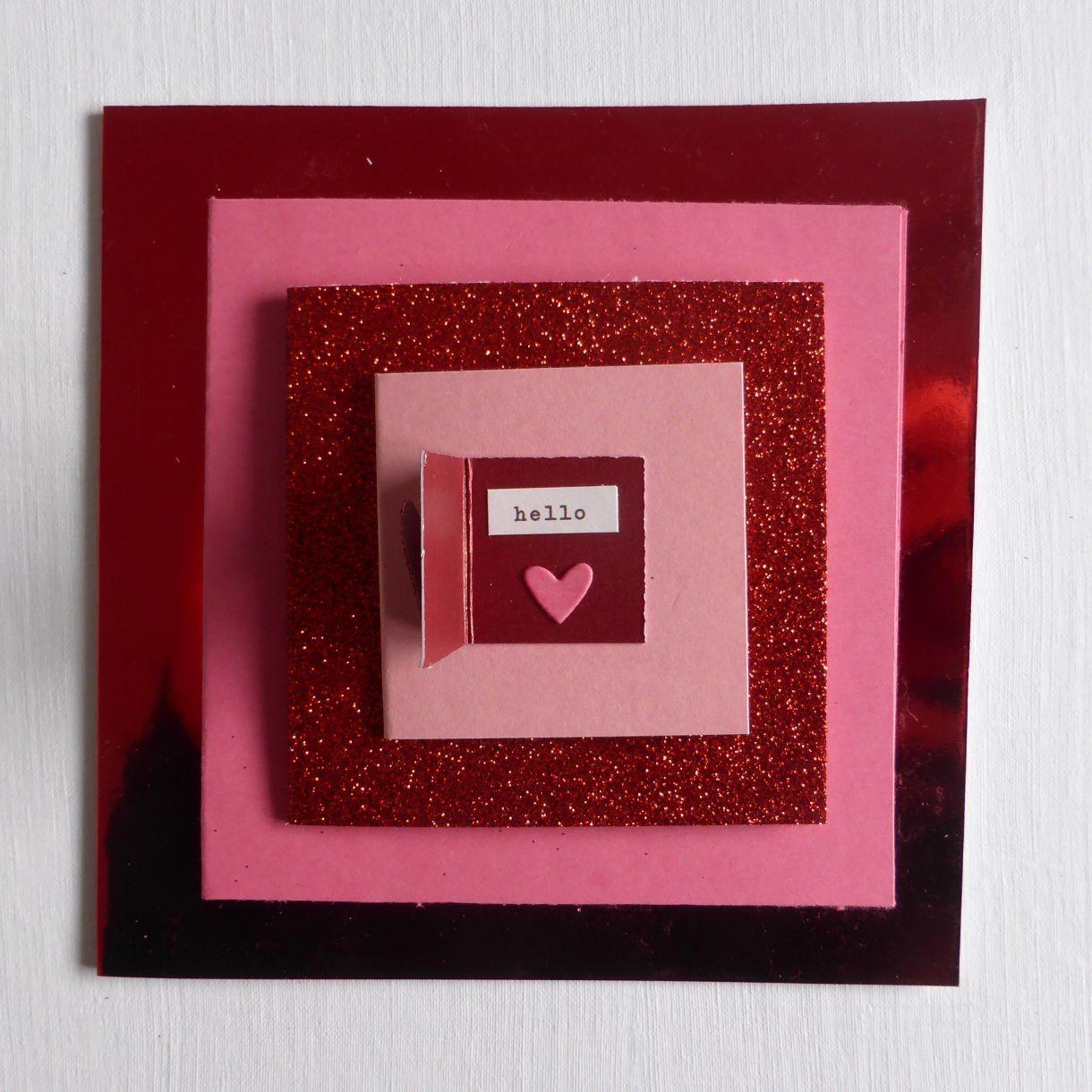 Jane T Valentine Layered Card 1D