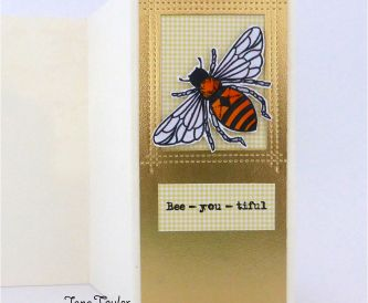 Bumble Bee Tag Card