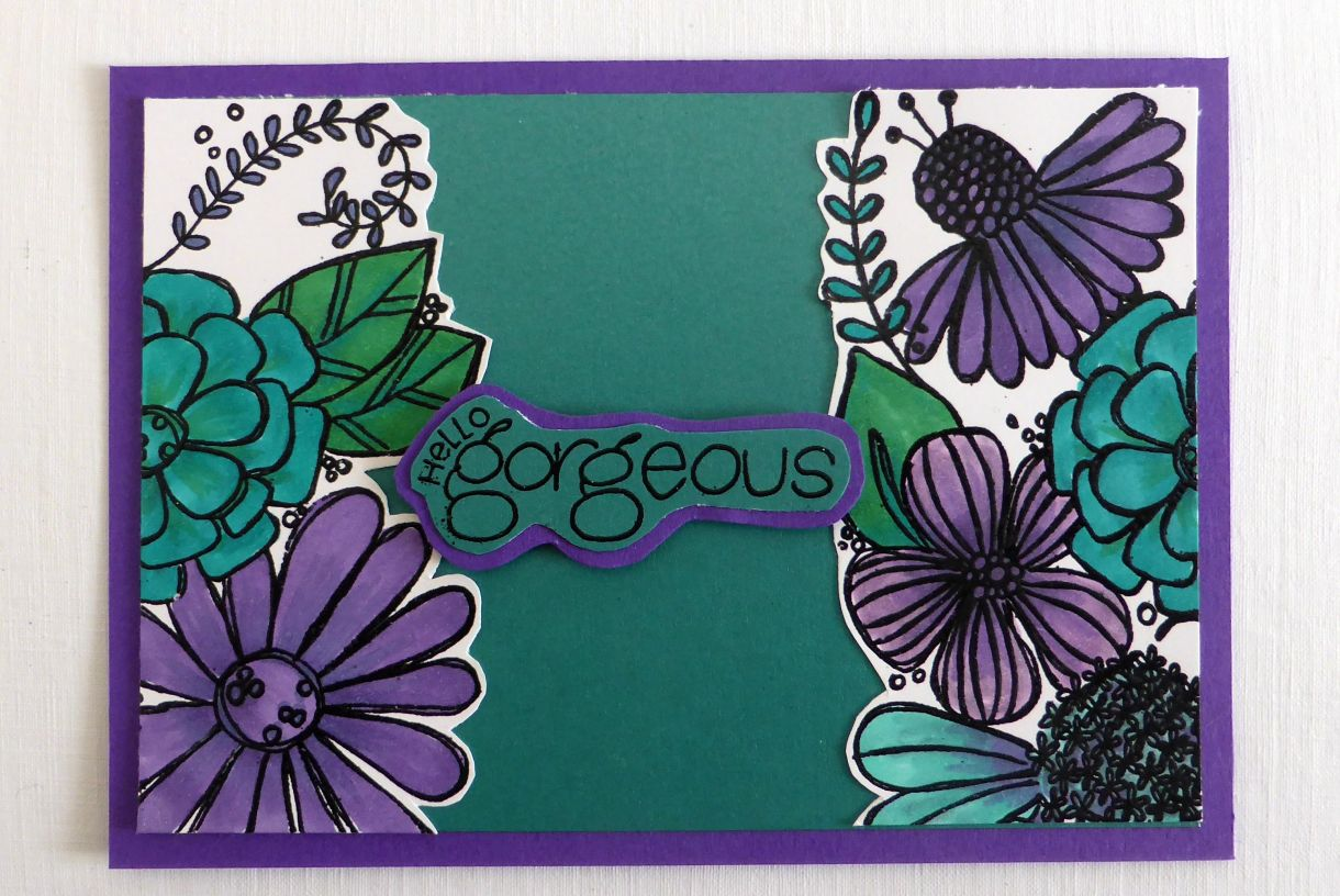 Jane T Gorgeous Teal Purple 1A