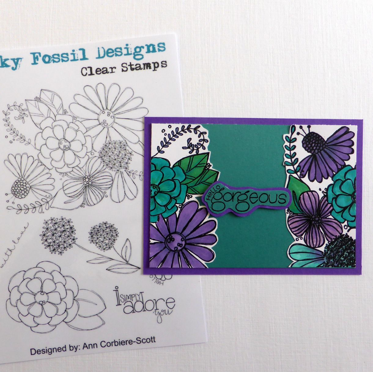 Jane T Gorgeous Teal Purple 1B
