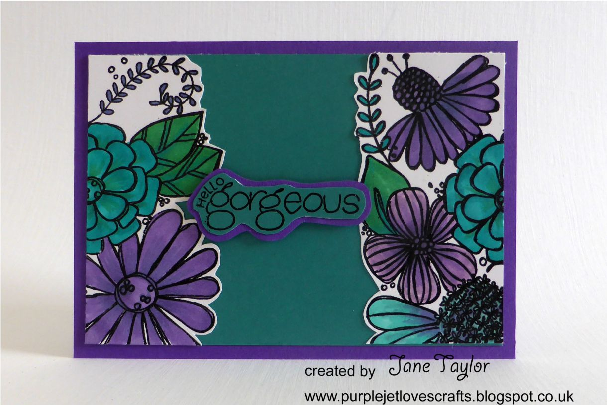 Jane T Gorgeous Teal Purple 1C