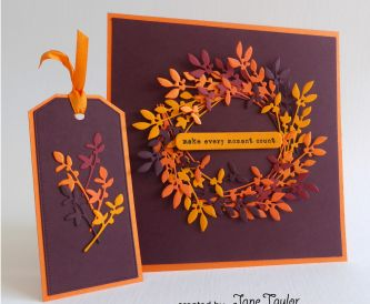 An Autumn Wreath Card + Bonus Tag