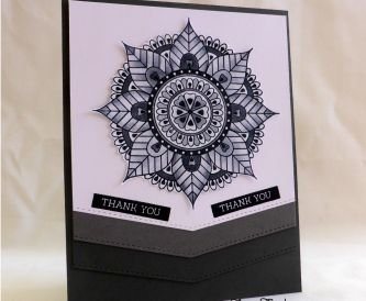 Shades of Grey Thank You Card