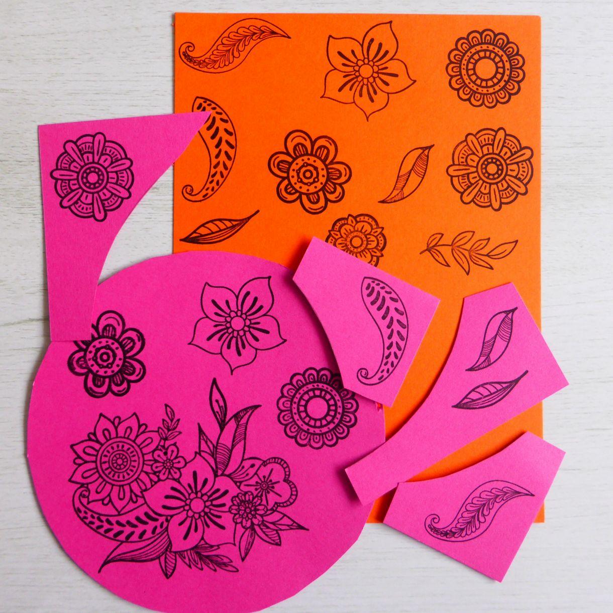Jane Orange Pink Wreath 2