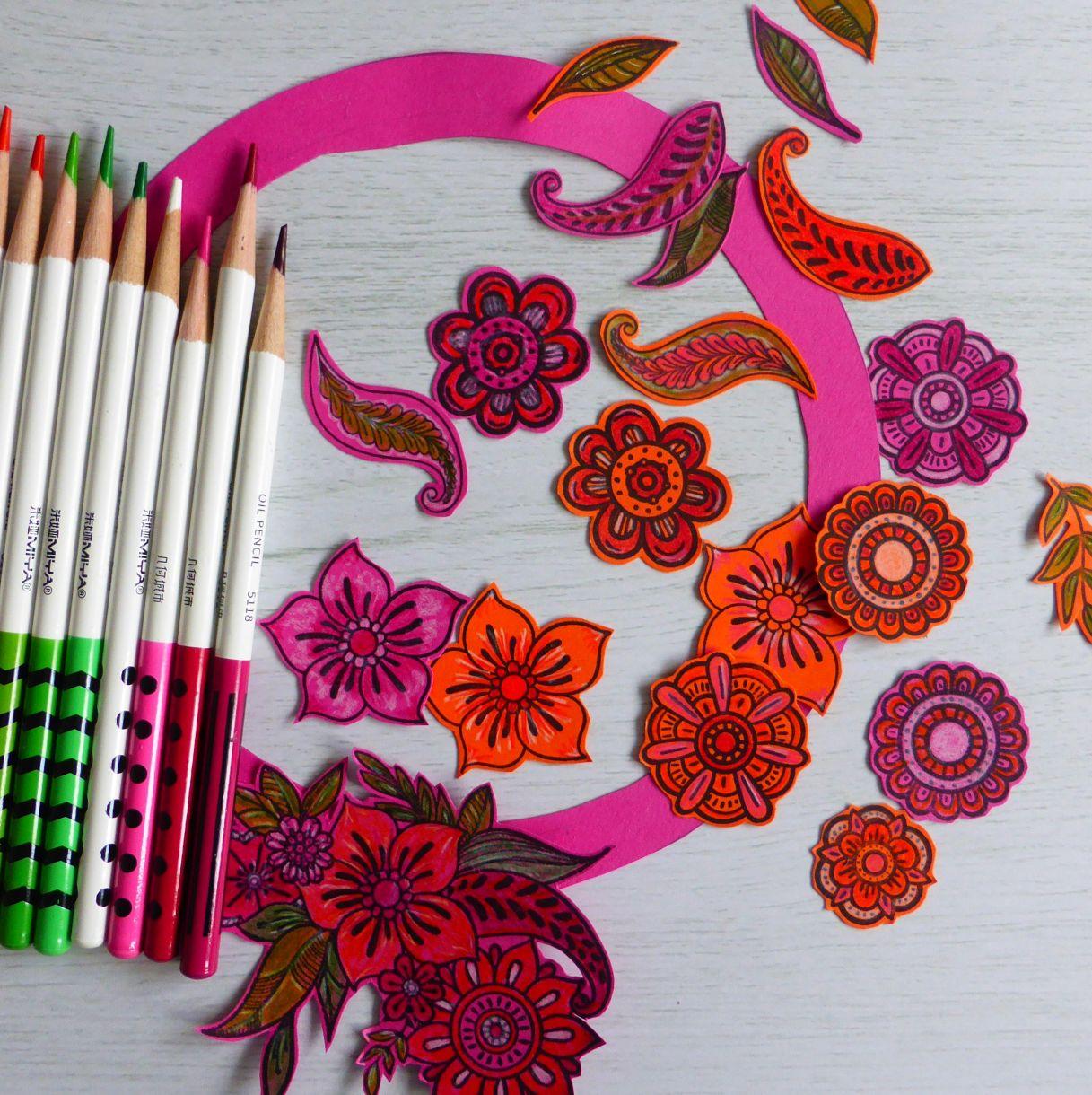 Jane Orange Pink Wreath 3