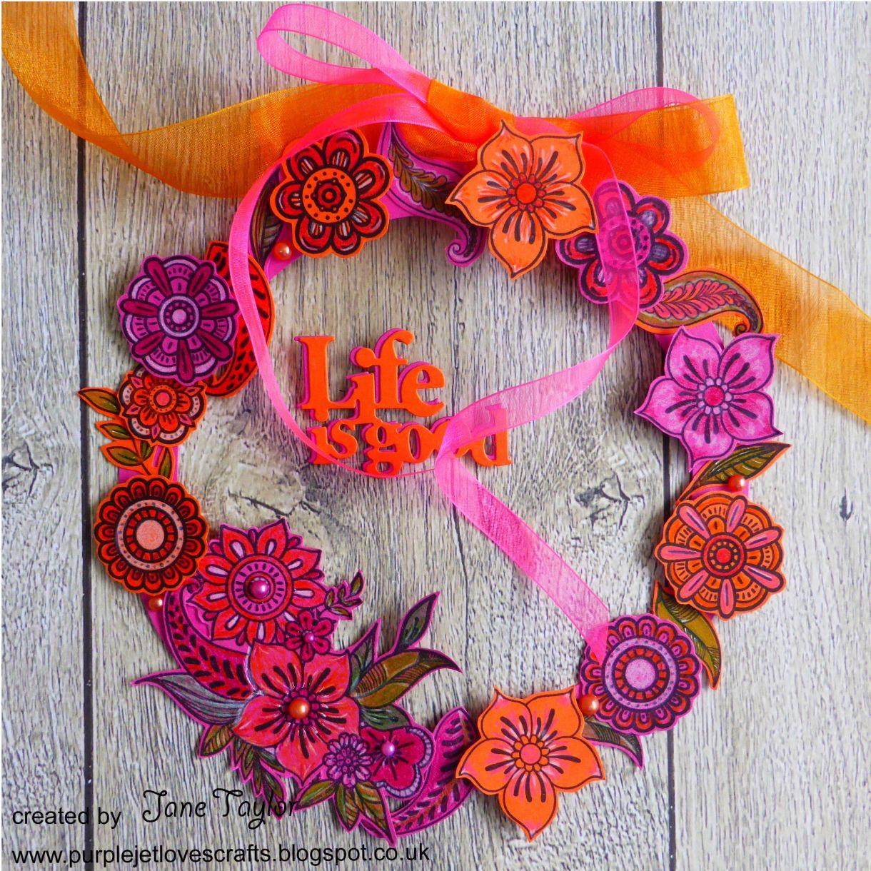 Jane Orange Pink Wreath 4
