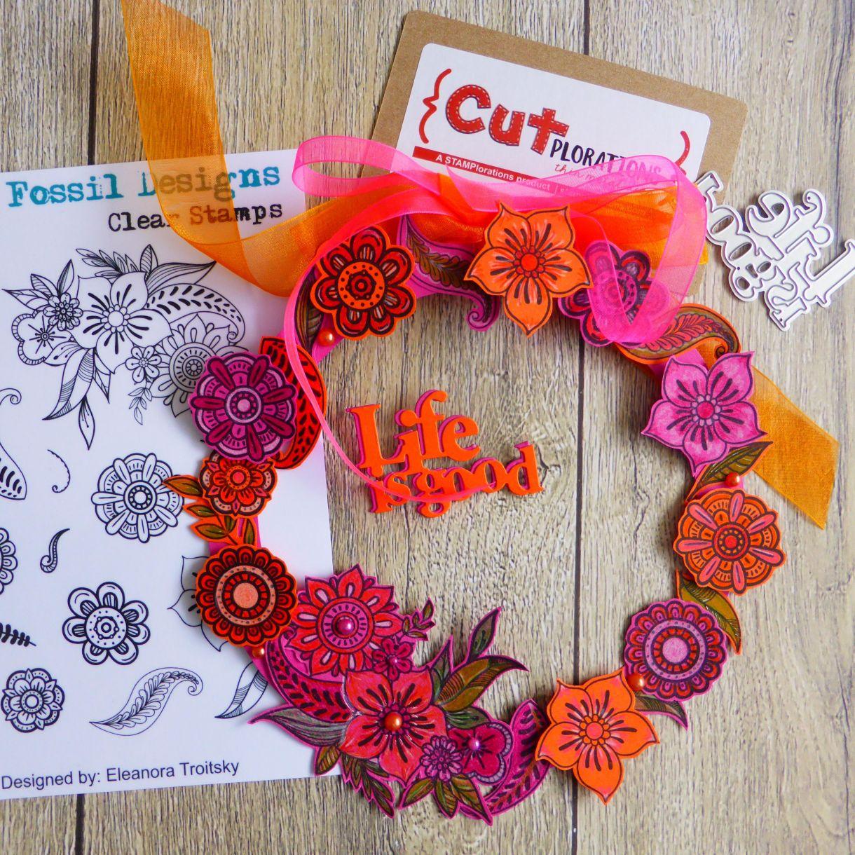 Jane Orange Pink Wreath 5