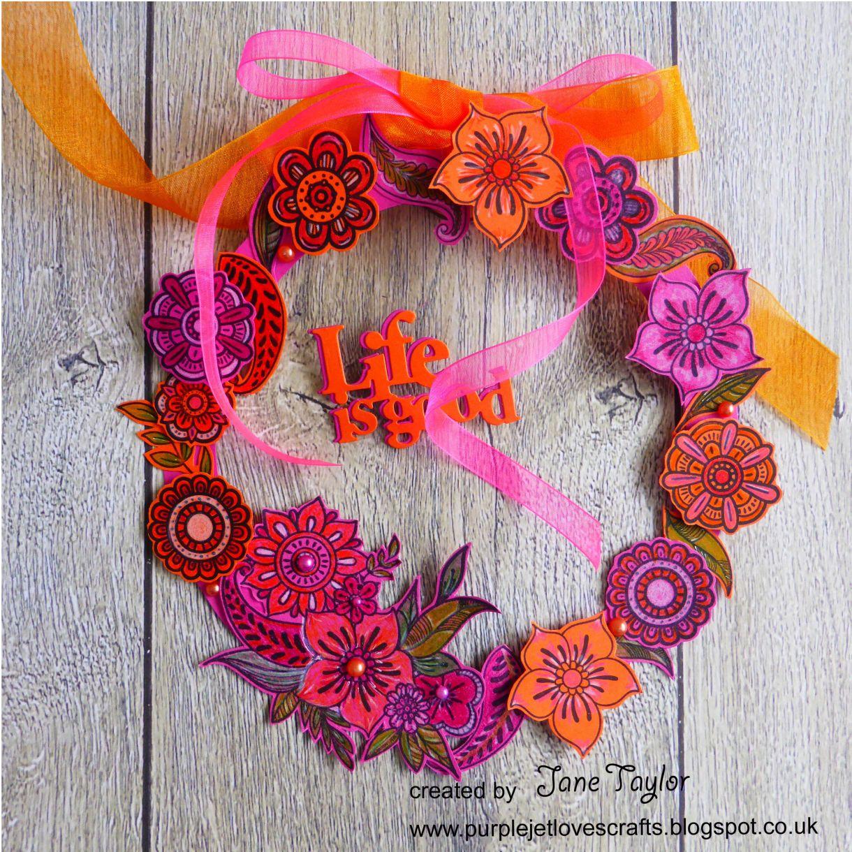 Jane Orange Pink Wreath 6