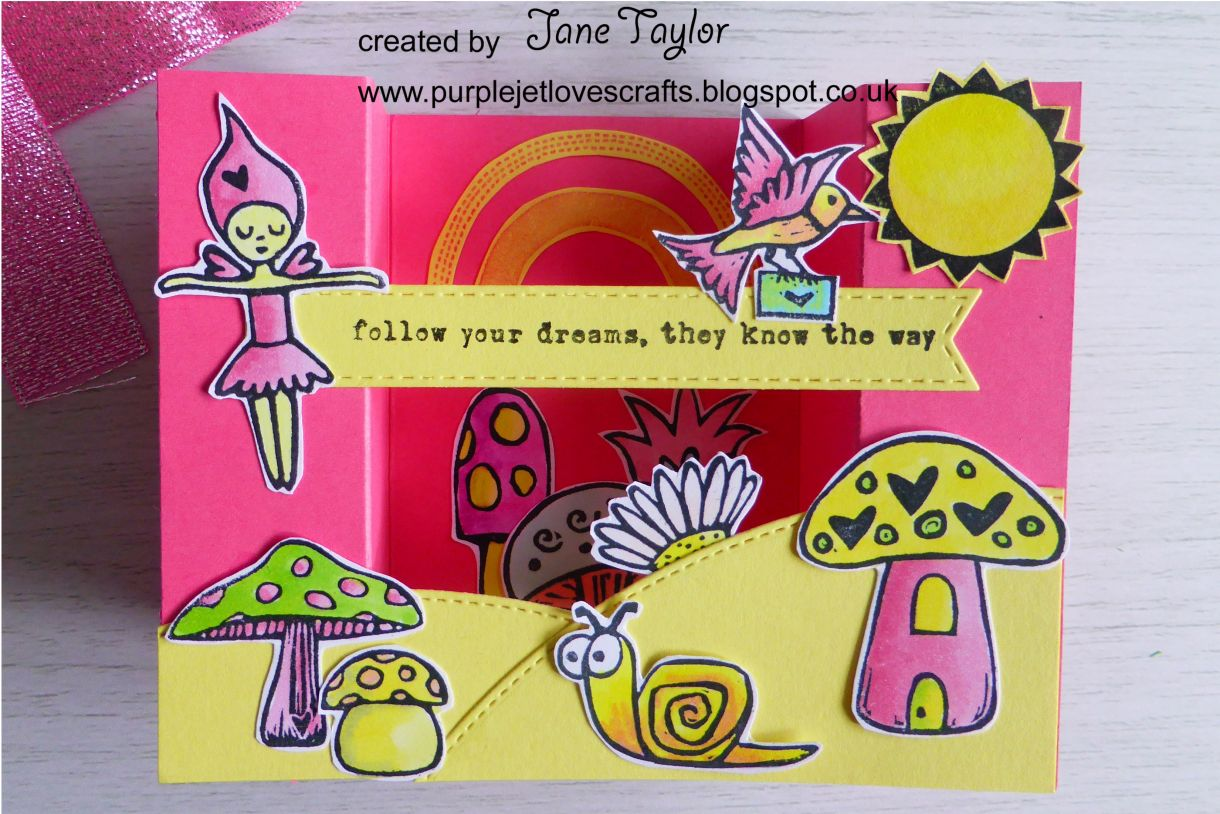 Jane Pink And Yellow Bridge Card 10