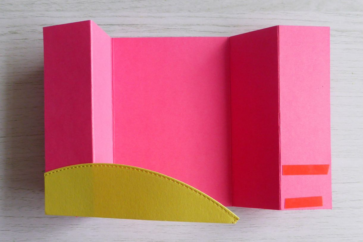 Jane Pink And Yellow Bridge Card 2