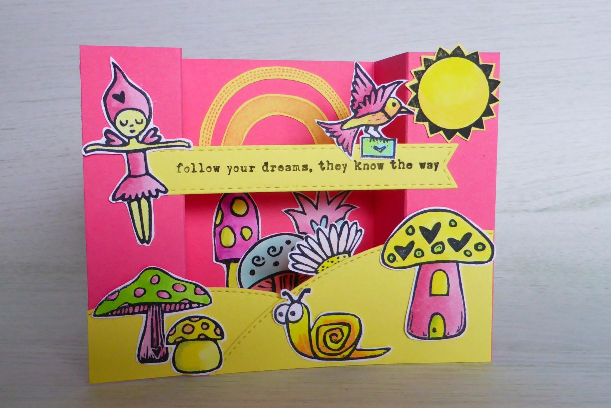 Jane Pink And Yellow Bridge Card 7