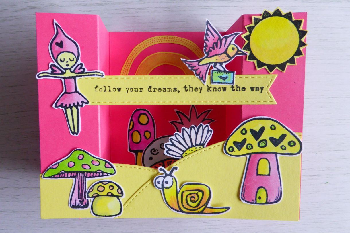 Jane Pink And Yellow Bridge Card 9