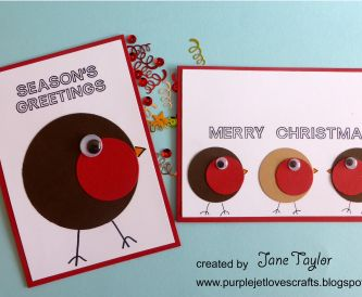 Quick and Easy Robin Christmas Cards