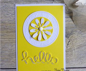 Hello Card Yellow