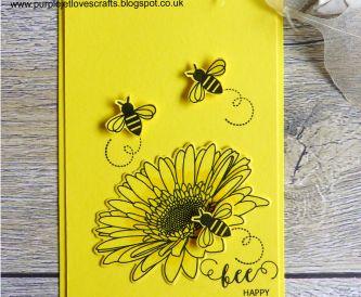Bee Happy Card Yellow
