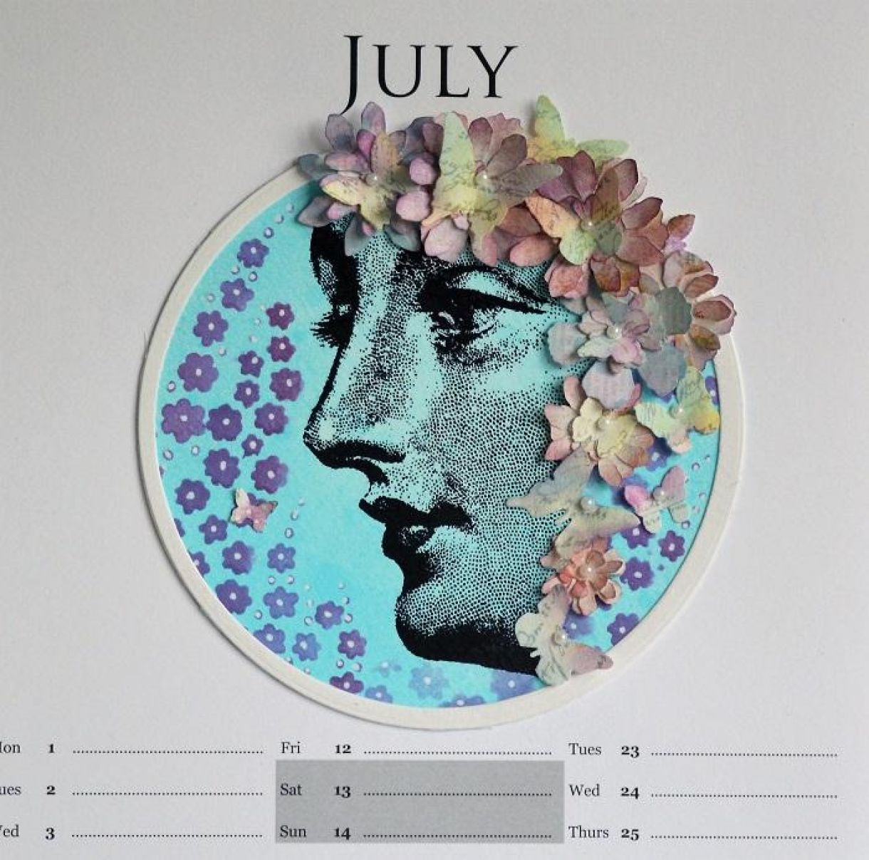 July Calendar Page Sylv 5