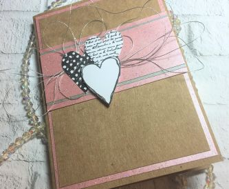 How To Make A Pink Card With Hearts On