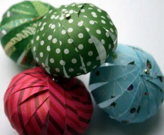 Handmade Paper Baubles