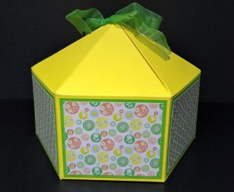 Large Squat Hexagonal Gift Box