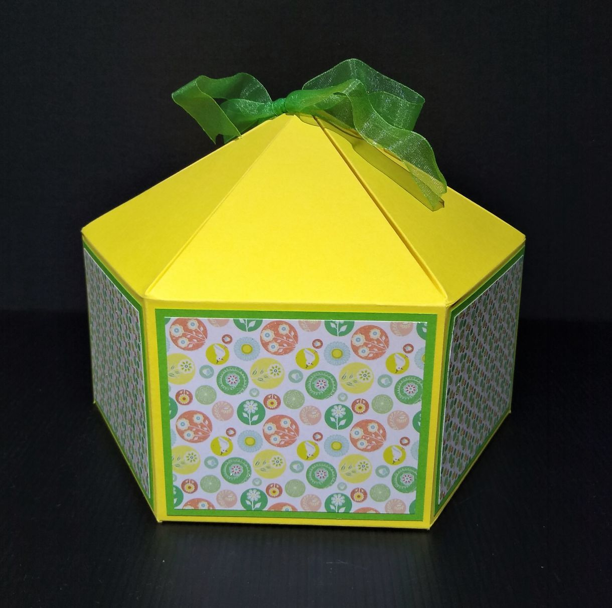 Large Squat Hexagonal Gift Box 3