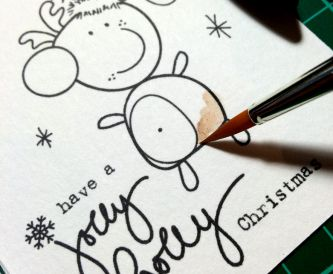 Easy Christmas Cards with Letraset Aquamarkers