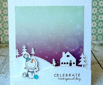 Card Making Tutorial - Winter Birthday Card.