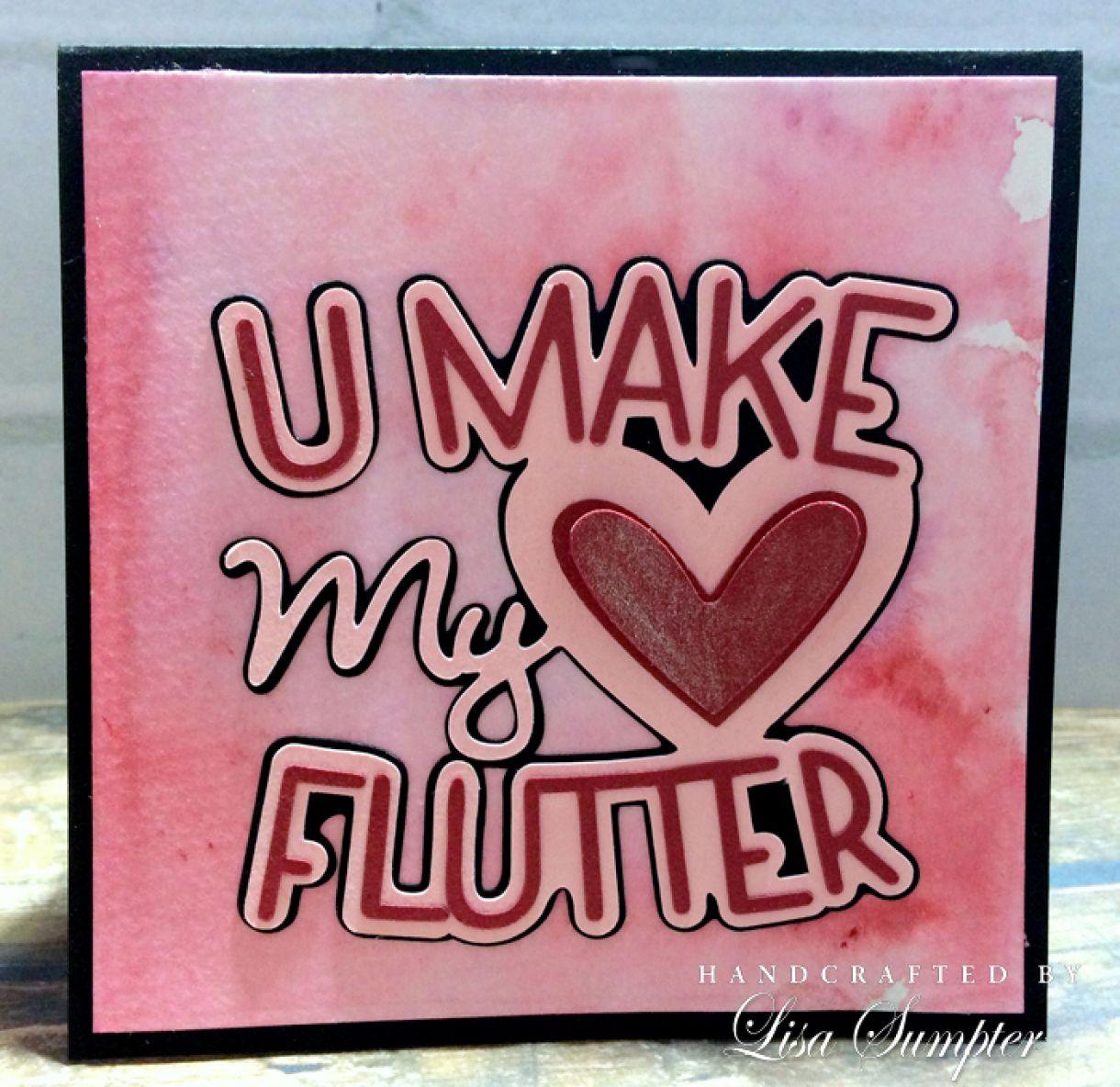 Lisa  Sumpter  Valentines  Heart  Flutter  Card A